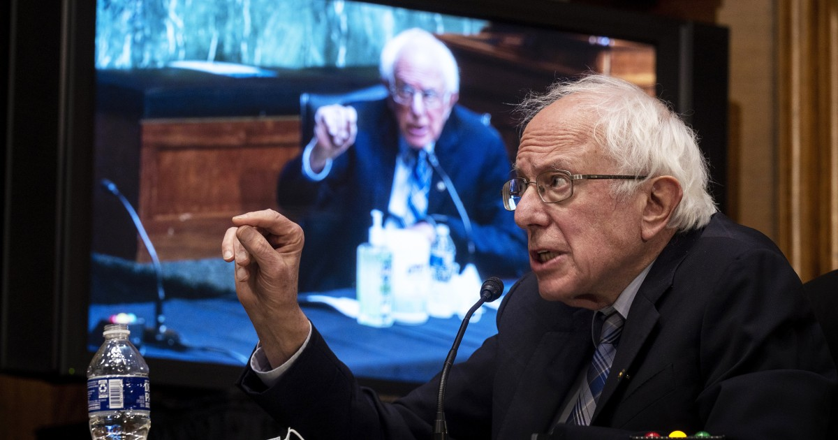 Sanders says it is'absurd' to lower income threshold for stimulus checks thumbnail
