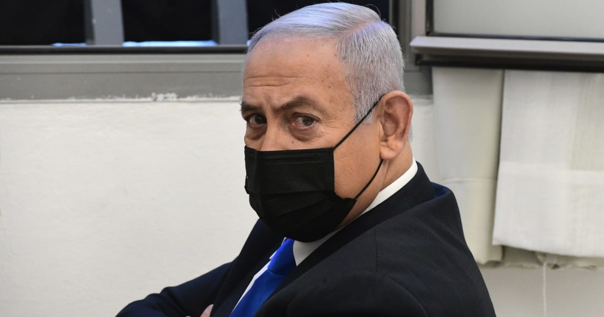 Benjamin Netanyahu appears in court as corruption trial resumes