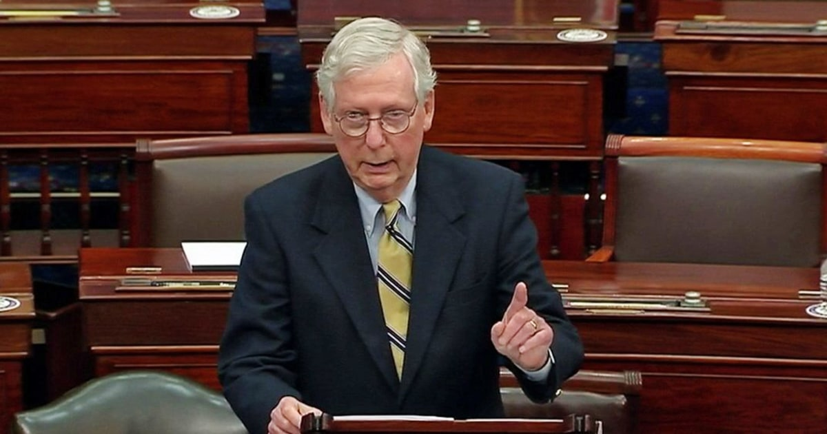 After acquitting Trump, McConnell slams him for a 'disgraceful dereliction of duty'