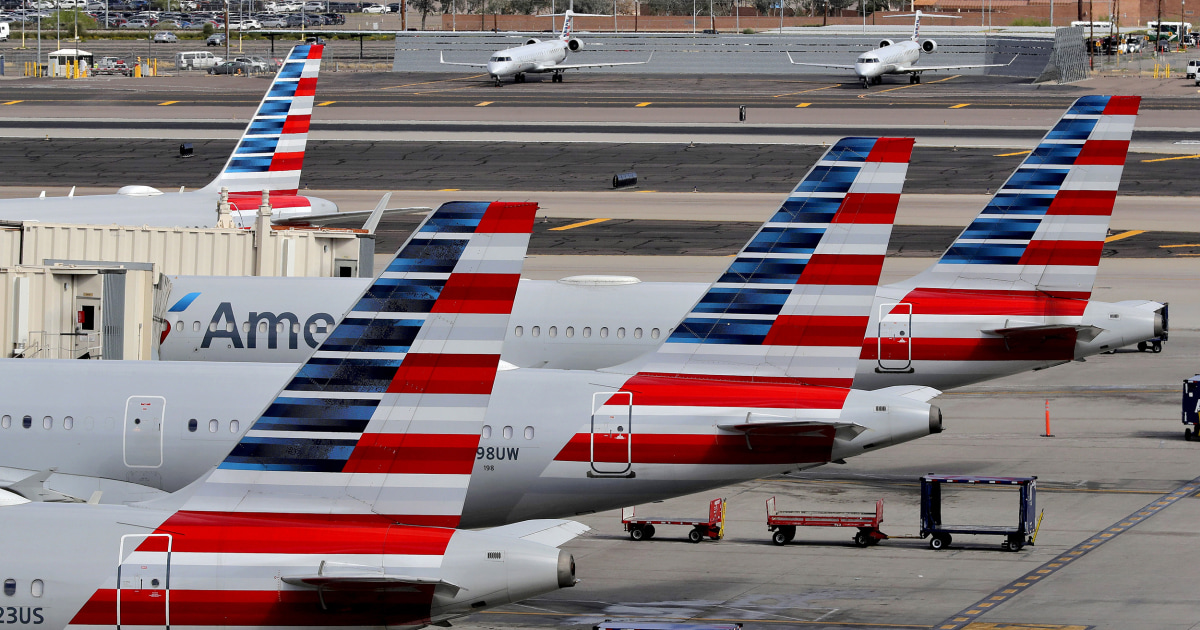 American Airlines flight diverted over fight; two passengers arrested - NBC News
