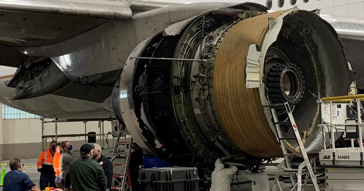 Damage to United Boeing 777 engine consistent with metal fatigue, NTSB says thumbnail