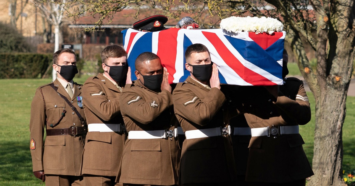 Funeral held for 'Captain Tom' who raised millions for U.K. health service