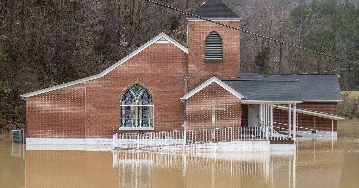 Images show flooded Kentucky communities as storms trigger state of emergency - NBC News