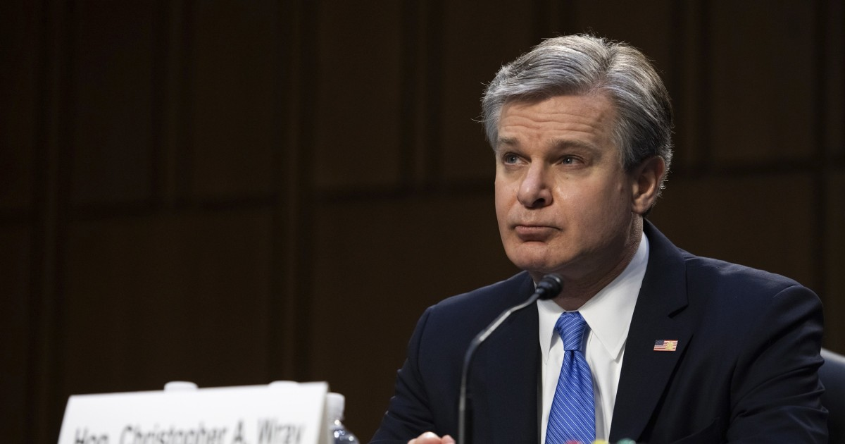 On Jan. 6 attack, FBI's Wray tells GOP what it doesn't want to hear