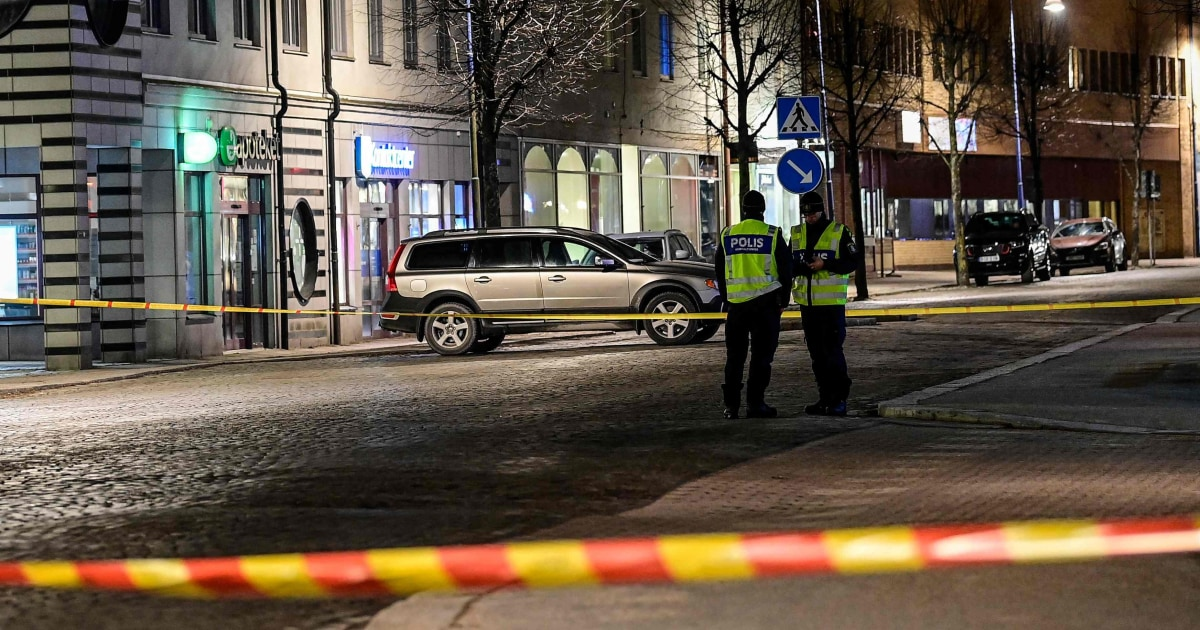 At least 8 injured in 'suspected terrorist crime,' police in Sweden say - NBC News