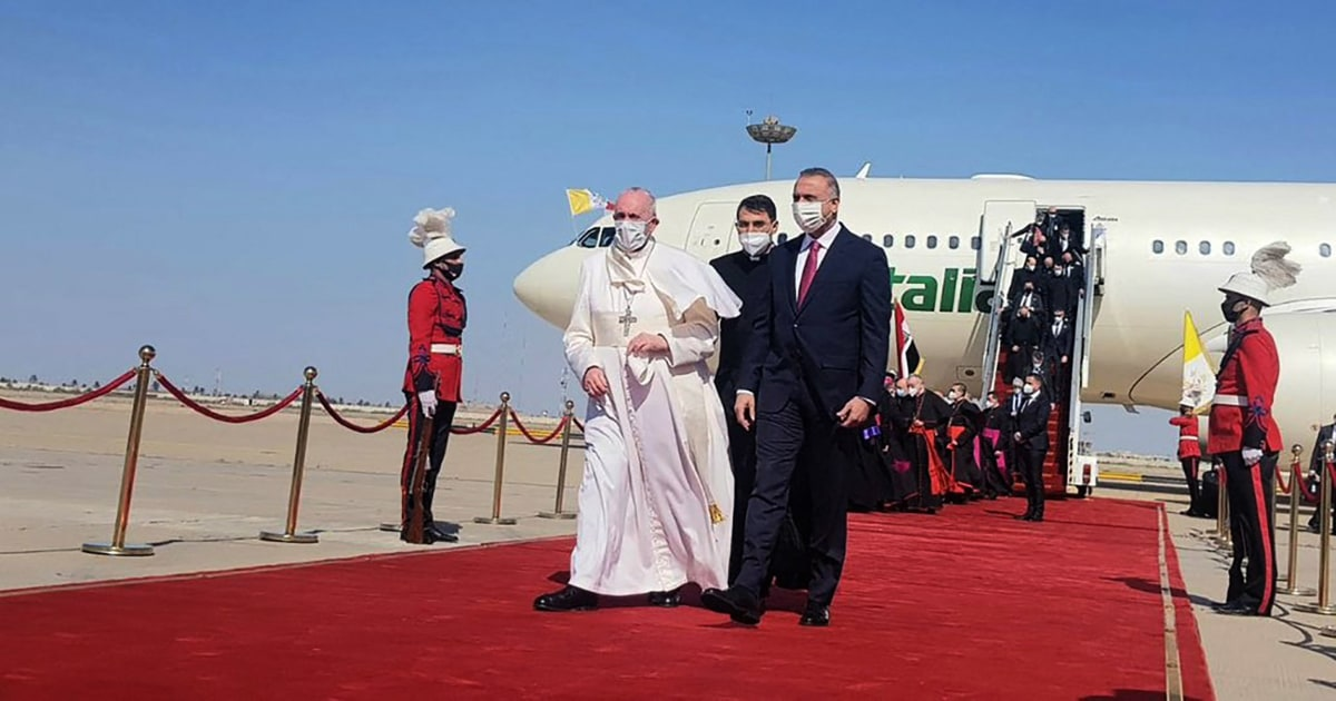 Pope Francis begins historic Iraq visit despite security and Covid-19 risks