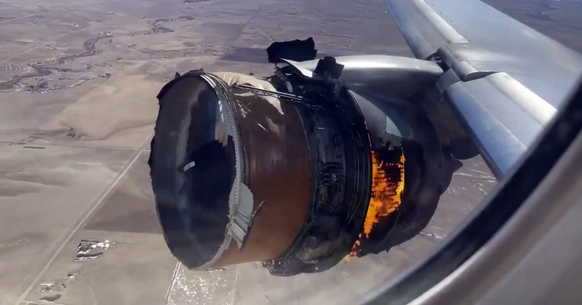 2 passengers sue United Airlines over engine explosion that sent debris raining over neighborhoods - NBC News