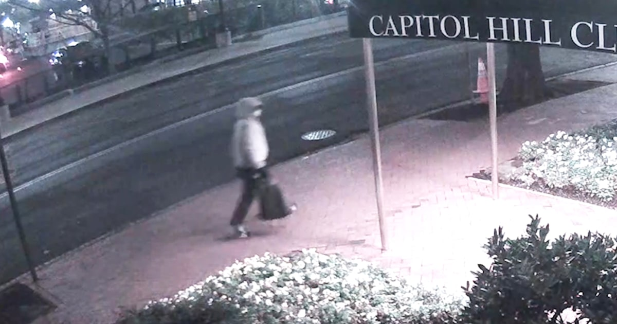 FBI releases new video of suspect planting bombs before Capitol riot – NBC News