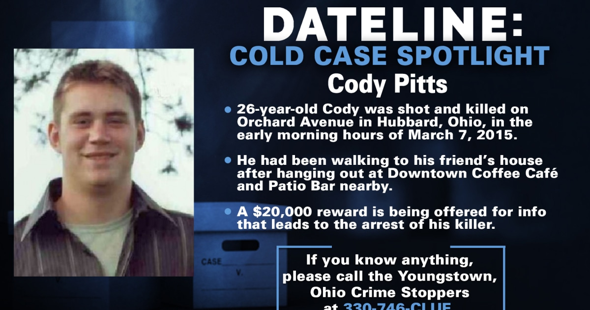 Reward increased to $25,000 in murder of Cody Pitts six years after he was gunned down on Ohio street