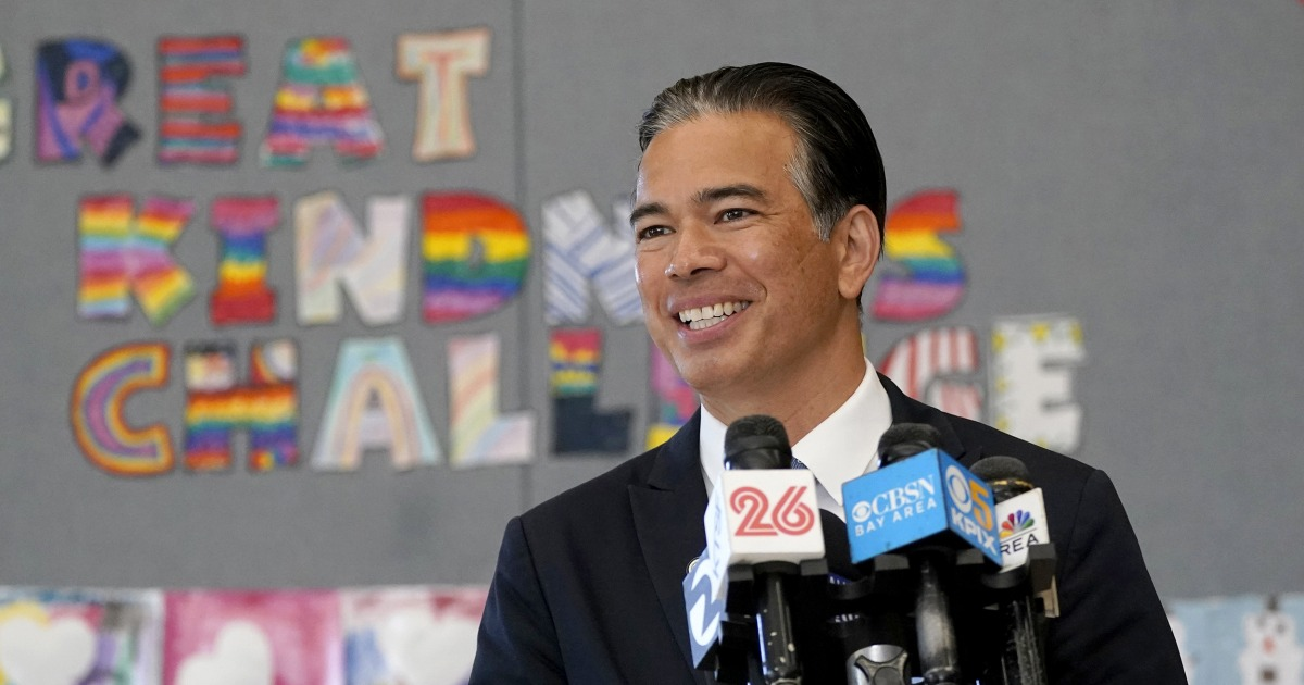 www.nbcnews.com: Rob Bonta nominated to be California attorney general, would be first Filipino in role