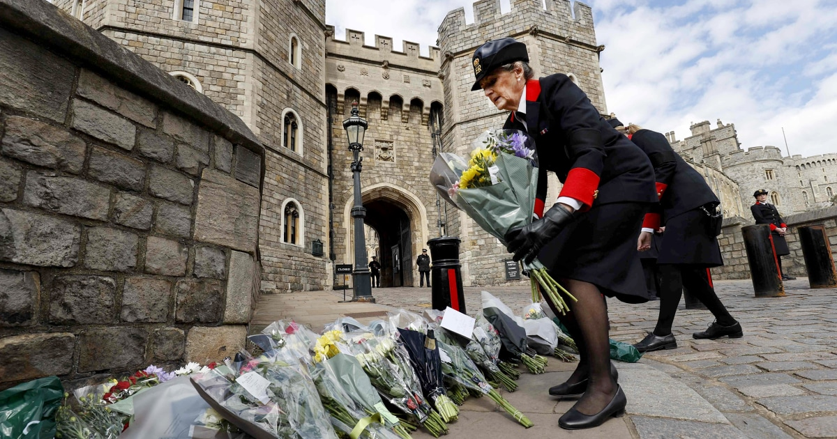 Prince Philip's funeral plans released will lie at rest in Windsor Castle – NBC News