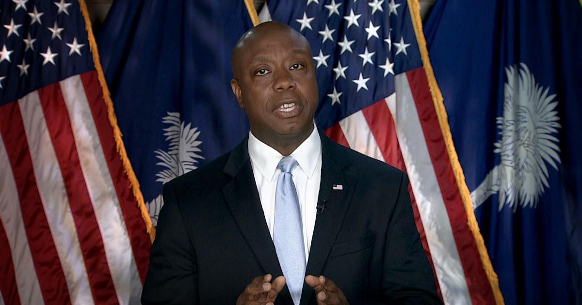 GOP Sen. Tim Scott says Dems 'are pulling us further apart' in response to Biden's address – NBC News