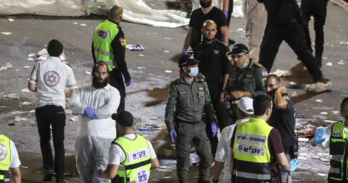 Dozens killed in stampede at religious gathering in Israel – NBC News