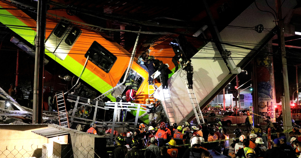 At least 23 dead after Mexico City metro overpass collapses – NBC News