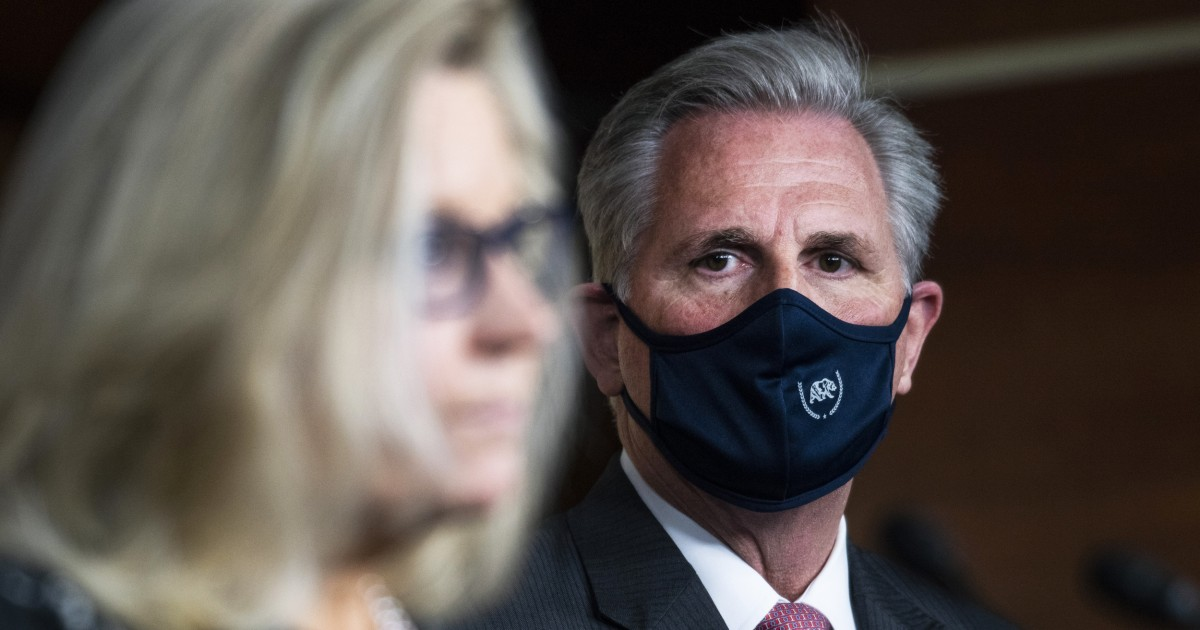 Pelosi's office steps into fight between Republican leaders Cheney and McCarthy – NBC News
