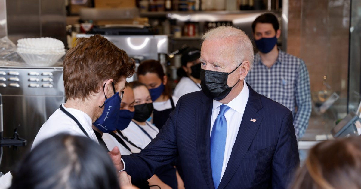 Biden promotes Covid restaurant aid program, says applications are 'staggering'