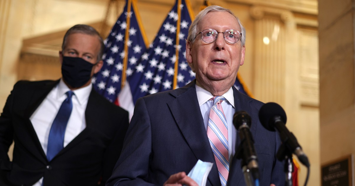 McConnell says he's '100 percent' focused on 'stopping' Biden's administration – NBC News