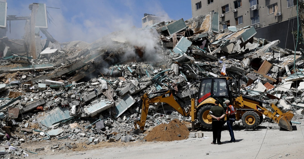 Israel blew up the AP's office and lied about an invasion. That's not right.