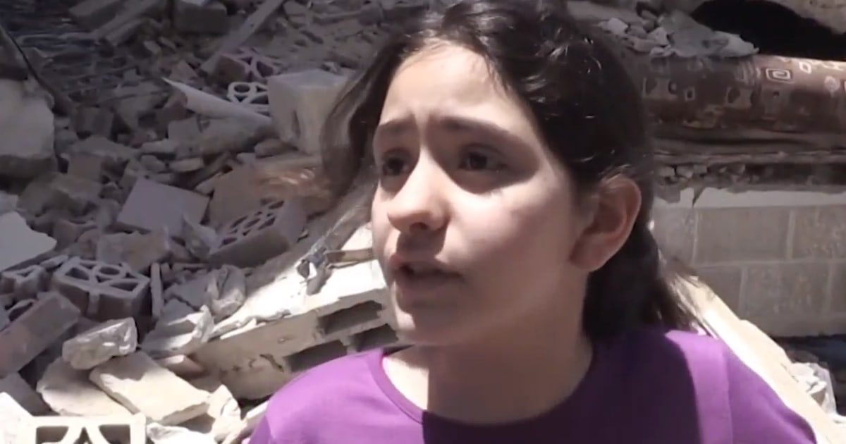 'We don't deserve this': 10-year-old girl reflects on destruction in Gaza City - NBC News