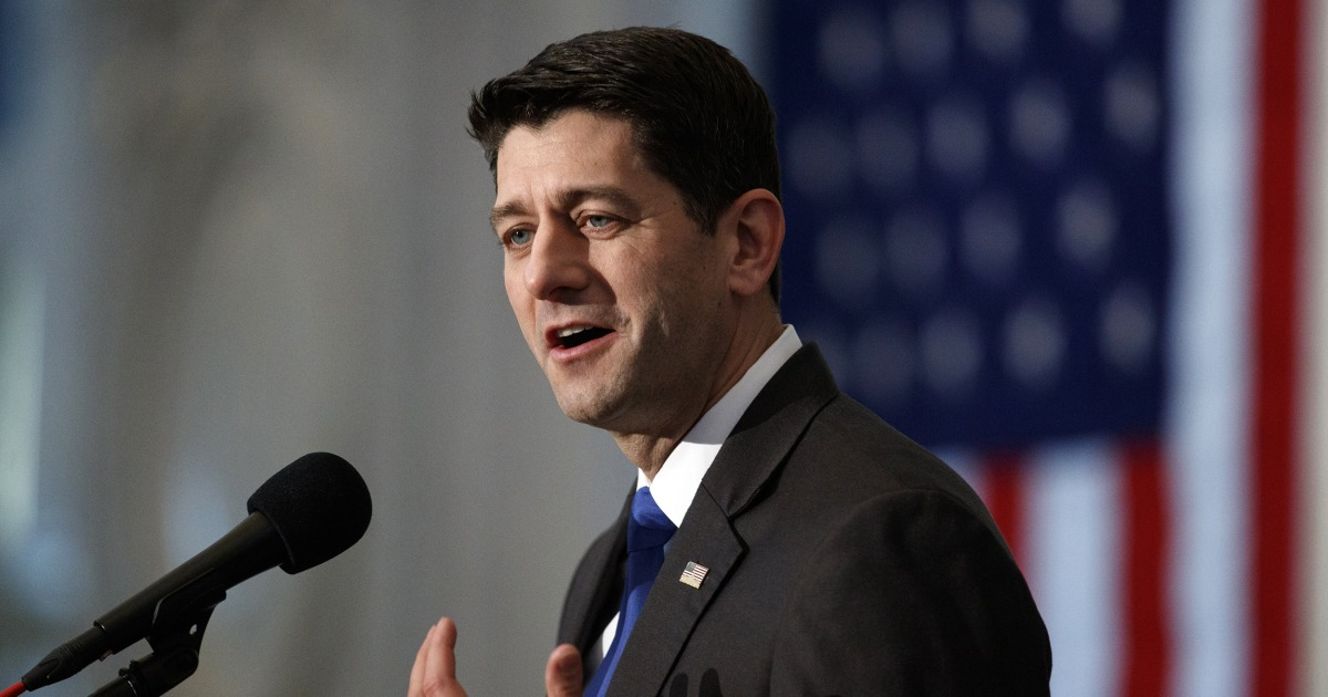 Paul Ryan urges GOP to shake Trump obsession focus on 'principles' not 'personality' – NBC News