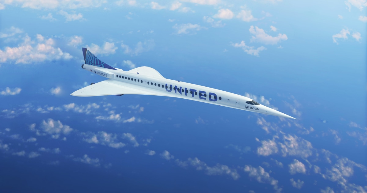 United Airlines orders 15 supersonic jets to cut travel time in half — some day – NBC News