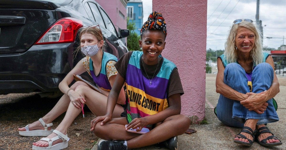 Outside Mississippi's only abortion clinic a Black activist ensures women are not alone – NBC News