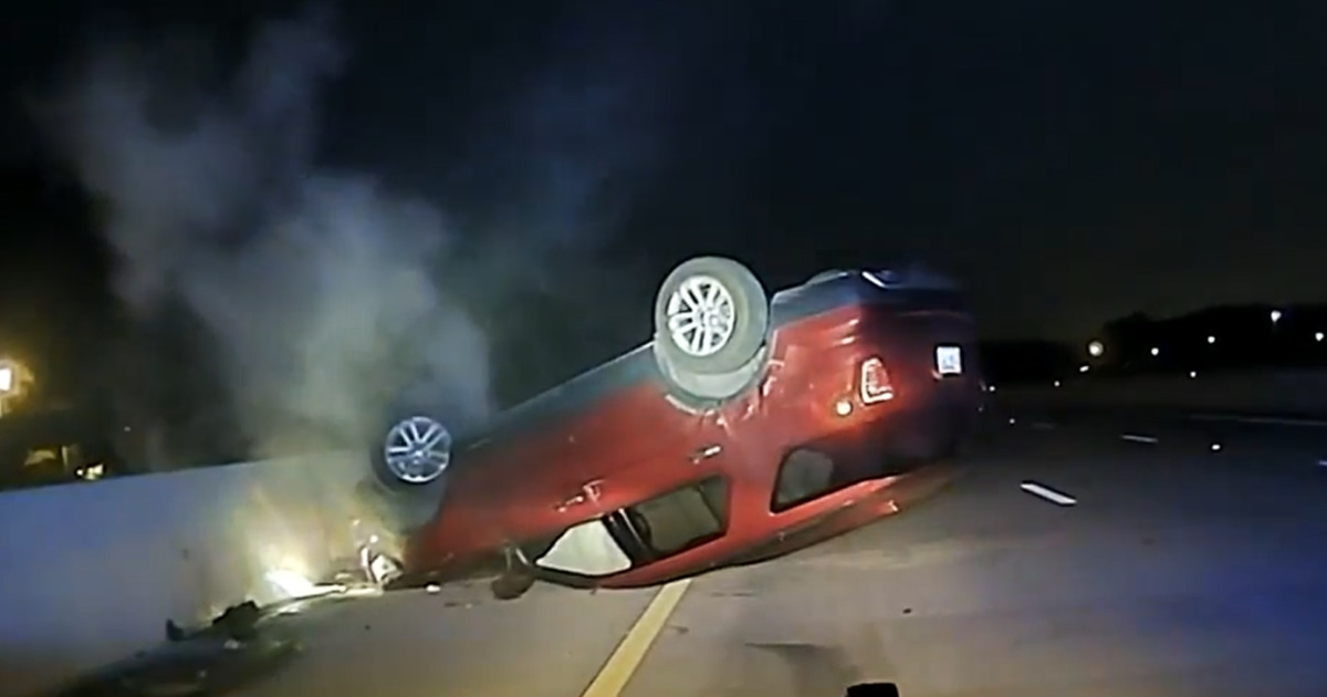 Arkansas woman suing police after brief chase ends with her car flipped on its top – NBC News