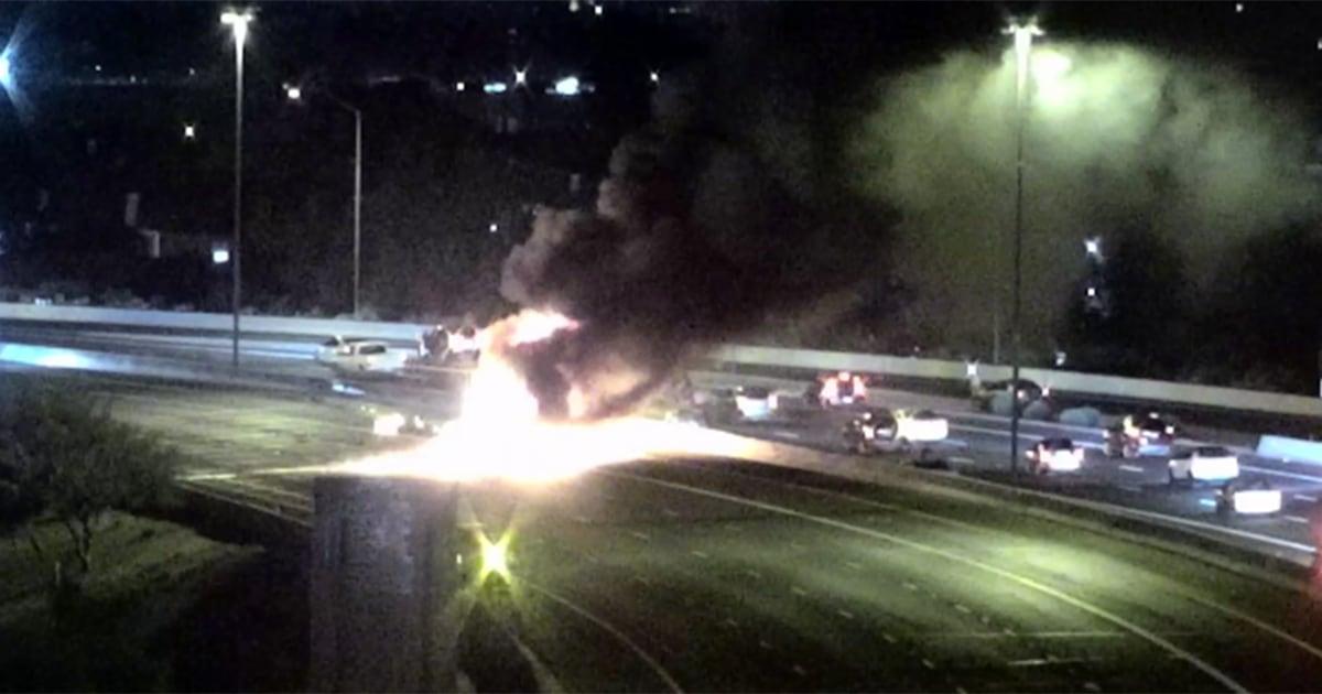 Four killed, nine injured in fiery multivehicle crash in Phoenix