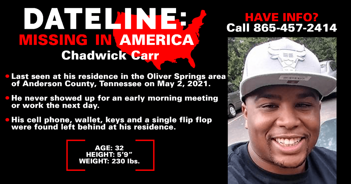 Family continues search for Tennessee man Chadwick Carr six weeks after he disappeared
