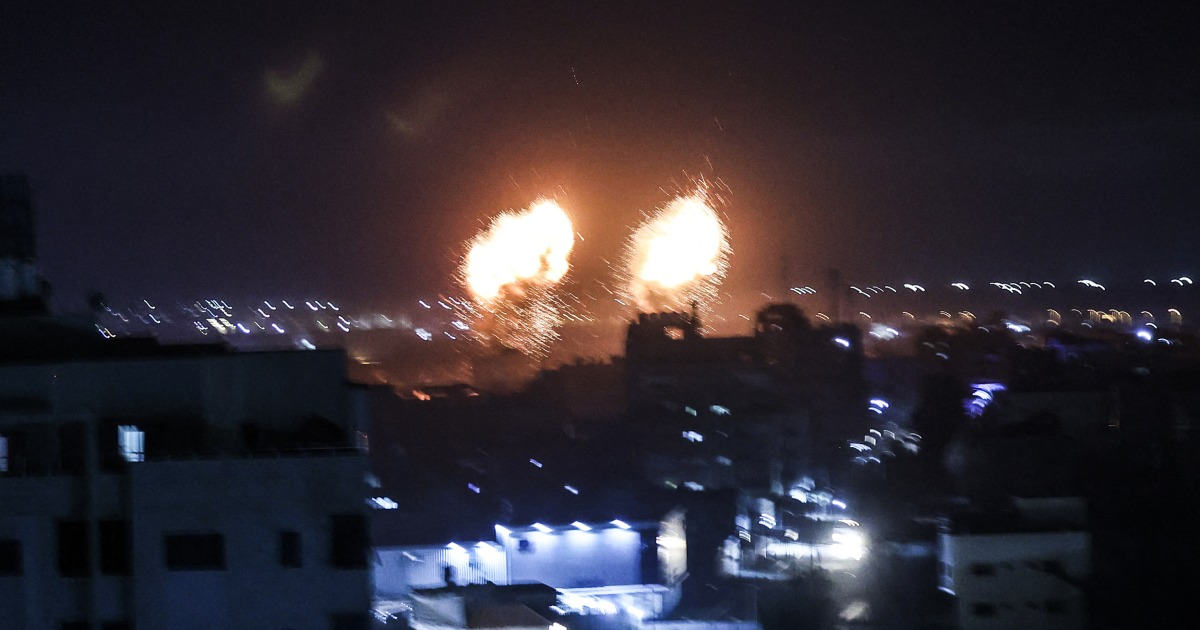 Israeli military says it launched air strike at Gaza over incendiary balloons