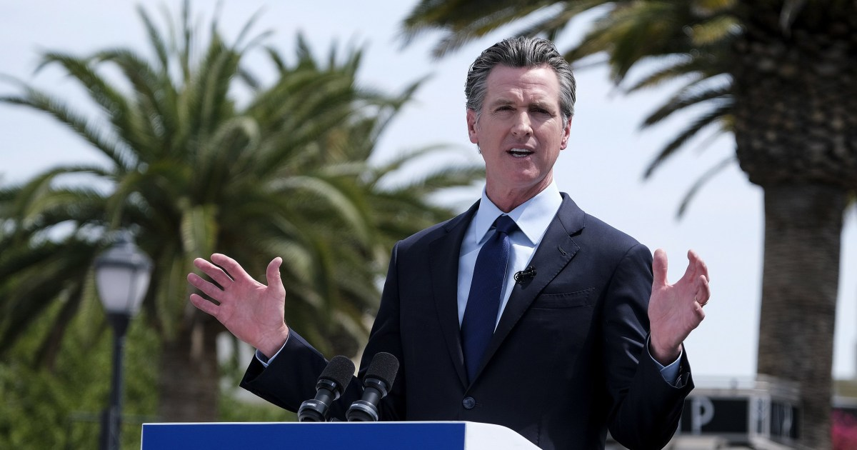 Man arrested, charged with assault after incident with California Gov. Newsom - NBC News