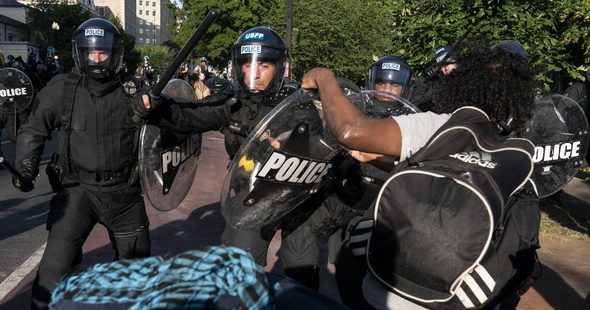 Judge dismisses most claims against Trump administration in clearing of Lafayette Square – NBC News