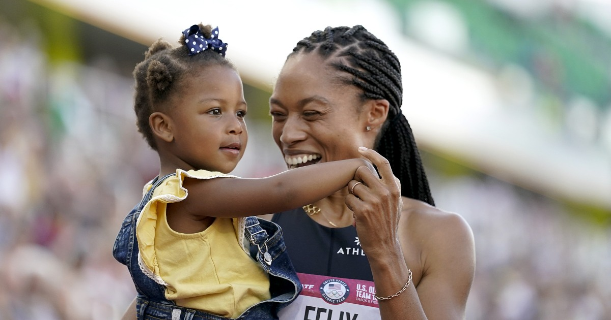 Allyson Felix secures fifth Olympics appearance two years after life-threatening pregnancy