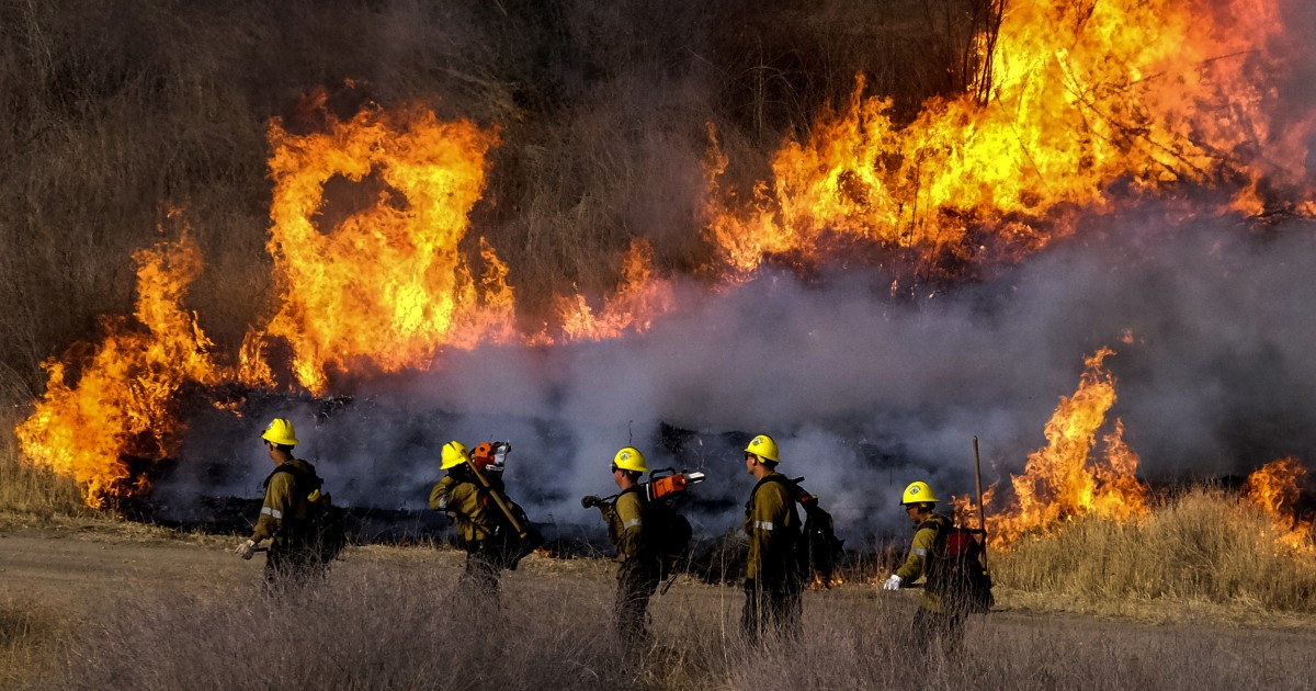 Wildfires erupt after hottest week in history across parts of the West ignited them – NBC News