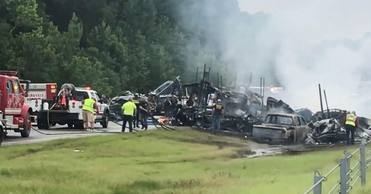 Small Alabama community mourns loss of 9 children in car crash – NBC News