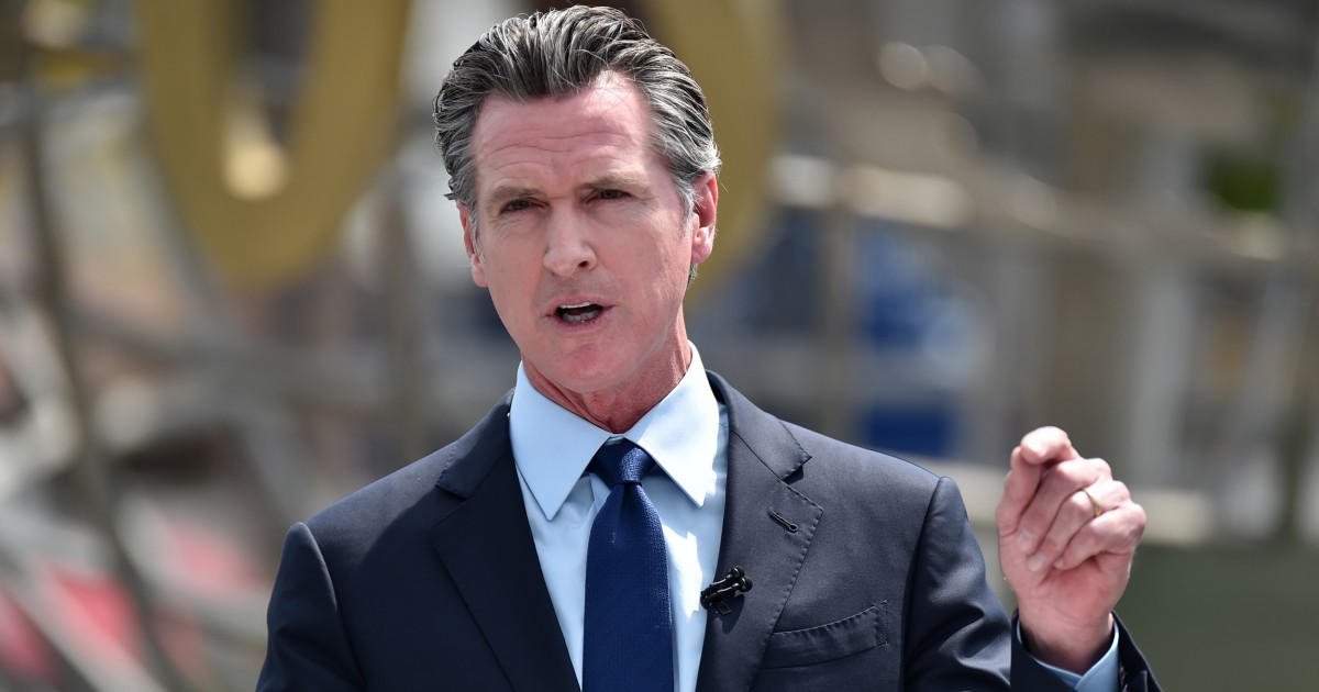 California Gov. Newsom is second in state's history to face recall election – NBC News