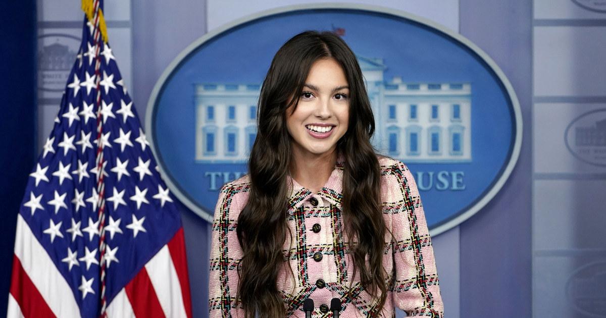Pop star Olivia Rodrigo speaks at White House to encourage Covid vaccines