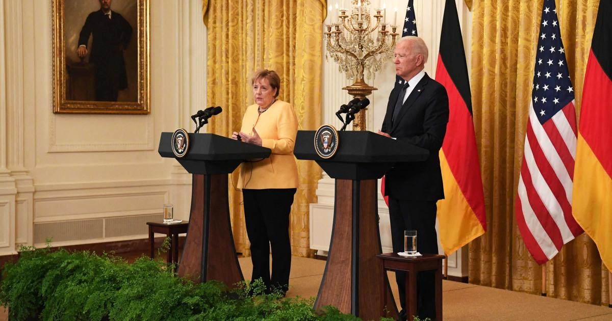 Biden hosts German Chancellor Angela Merkel at White House