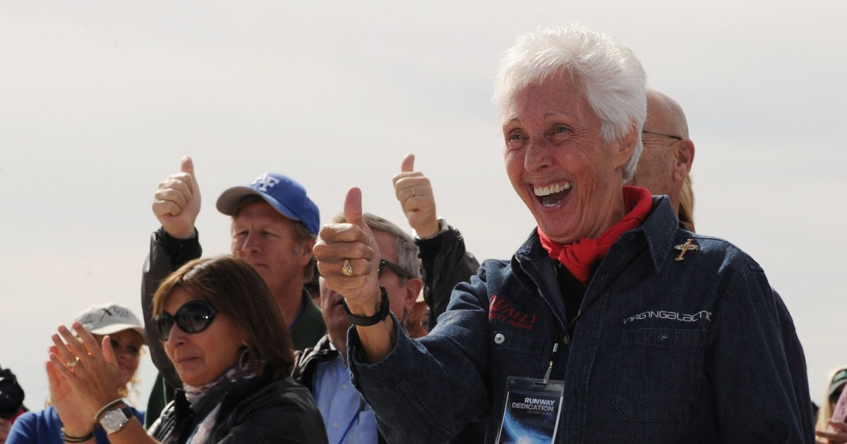 Wally Funk becomes oldest person to fly to space 60 years after she was denied the opportunity