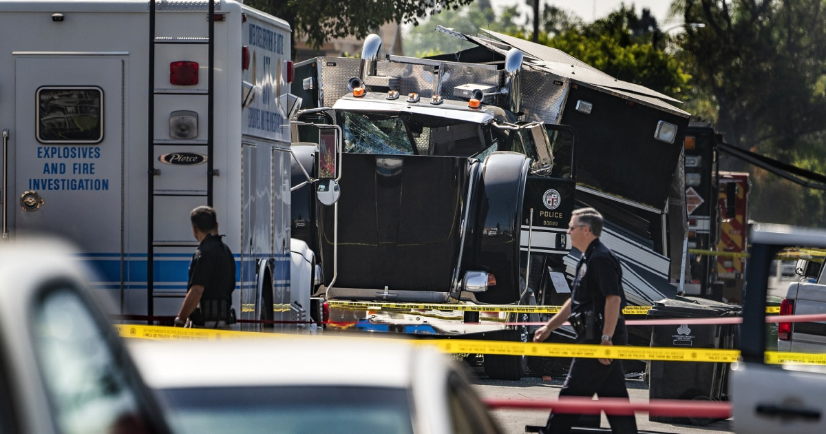 Bomb squad officers who detonated a massive cache of illegal fireworks in Southern California last month, causing a