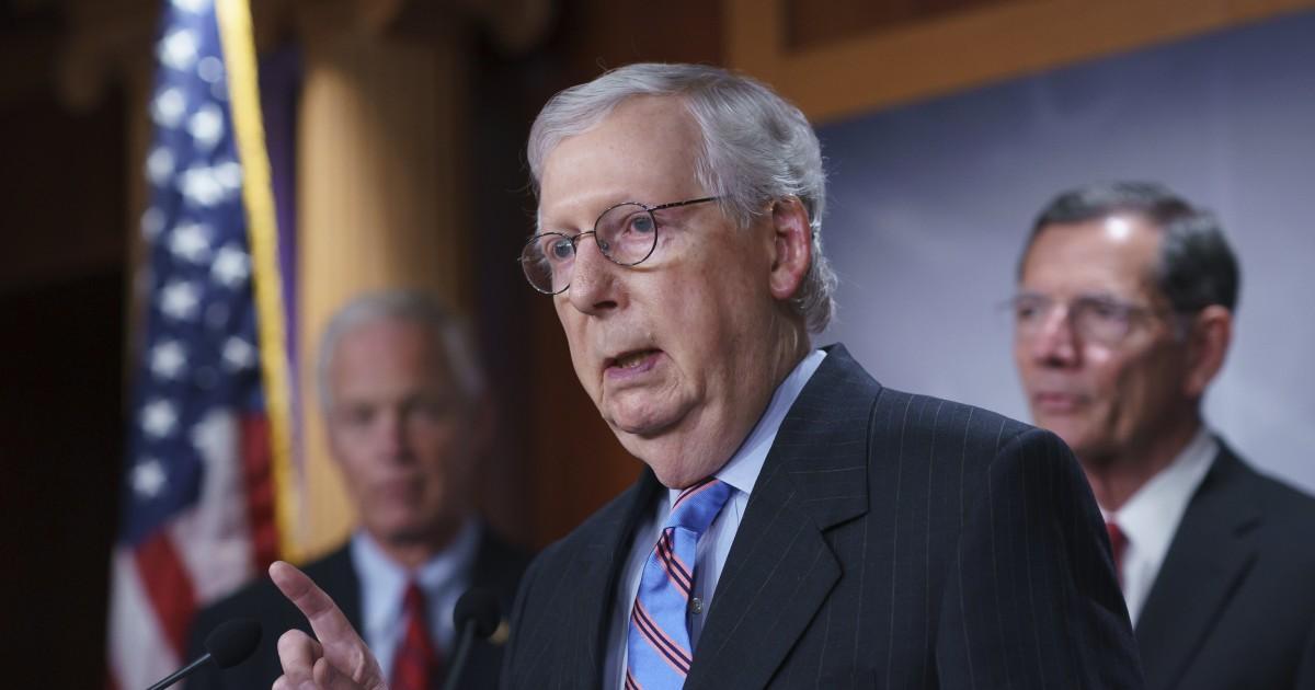 Senate Republicans rebuff consideration of bipartisan infrastructure bill - NBC News