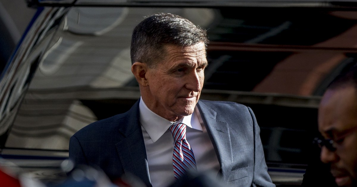 Michael Flynn says maybe he'll 'find somebody in Washington, D.C.,' after being given an AR-15
