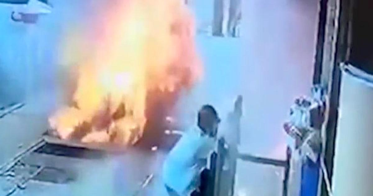 Video captures shocking moment NYC man survives sidewalk explosion