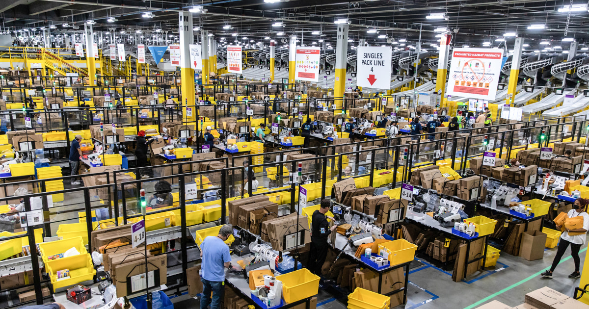 1 in every 169 U.S. workers is now employed by Amazon