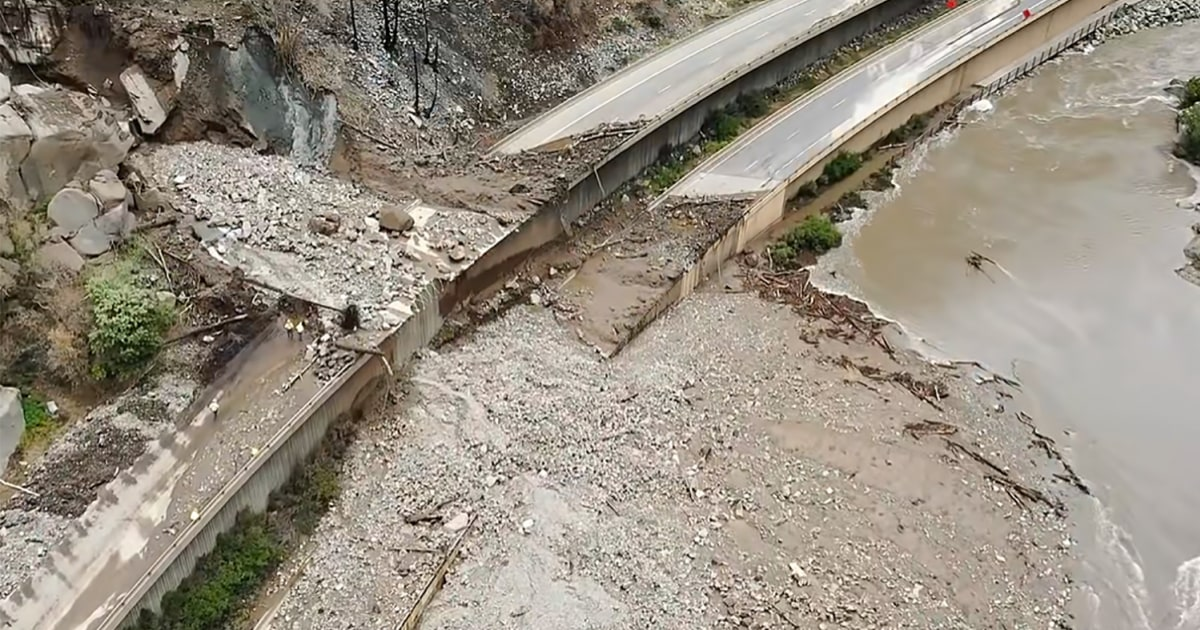 Mudslide on scenic Colorado highway tests limits of aging infrastructure in era of climate change – NBC News