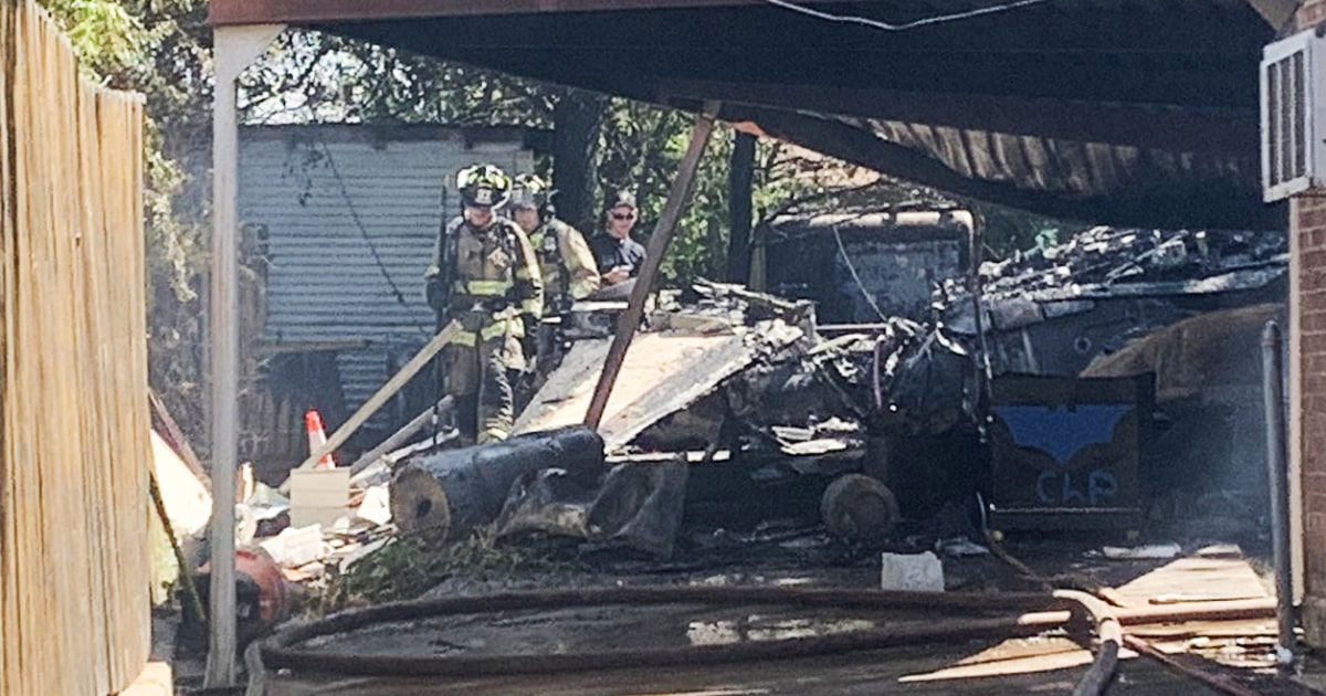 At least two injured after military plane crashes in Texas backyard