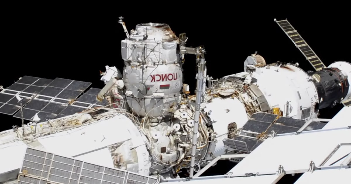 Spacewalking astronauts prep for 2021 arrival of Russian lab