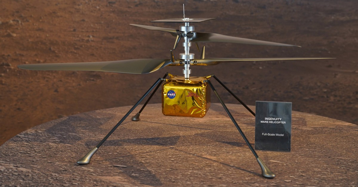 Part of Wright brothers' 1st airplane on NASA's Mars chopper – NBC News
