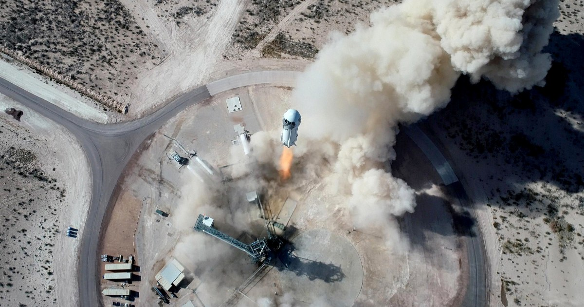 Jeff Bezos' Blue Origin launches and lands rocket New Shepard