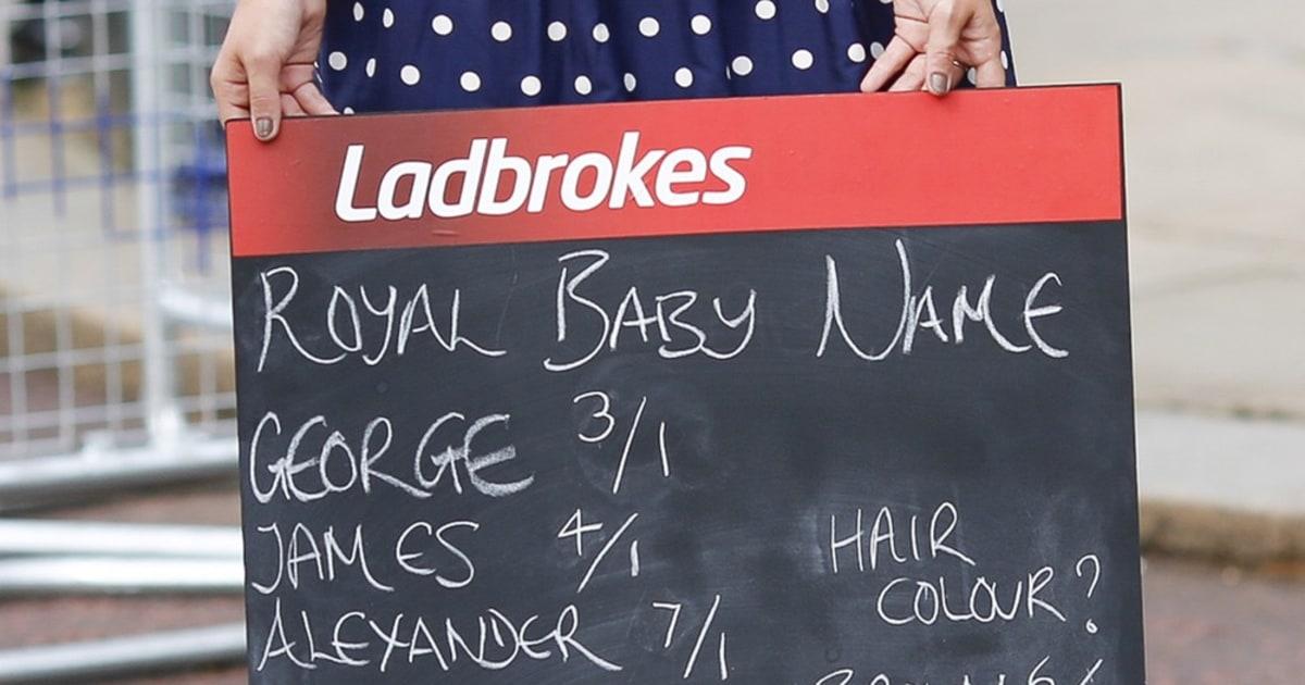 Royal baby name betting ladbrokes 49s fai junior cup betting 2021